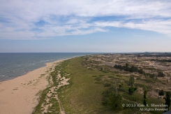 Ludington State Park from Big Sable Lighthouse, Michigan