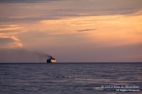 The Badger sails into the sunset, Lake Michigan