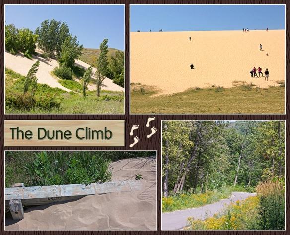 Dune Climb Collage