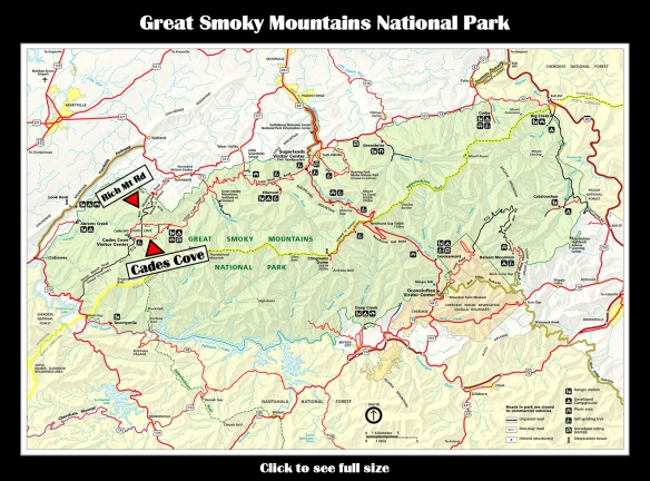 Map GSMNP Cades Cove
