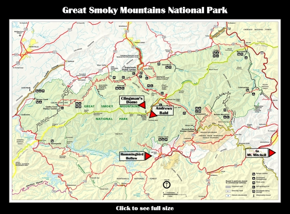 Map GSMNP Mountains